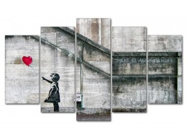 Bansky - Fly Away (five in tela)