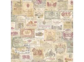 Old Wine Color - Carta da parati cucina