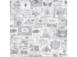 Old Wine grigio - Carta da parati cucina