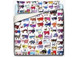 copripiumino gatti matti
