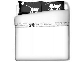lenzuola gatti innamorati