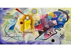 Quadro su vetro Giallo Rosso Blu Kandinskij
