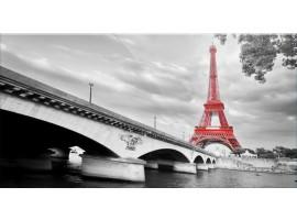 Quadro su vetro Eiffel Rouge