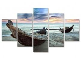 Quadro cinque pannelli Canoe