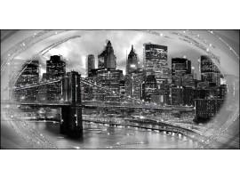 quadro glitter Ponte di New York