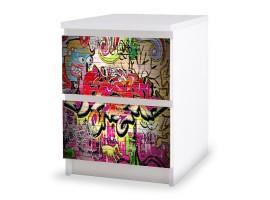 adesivo cassettiera graffito amb