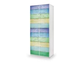 adesivo armadio legno color ambientazione