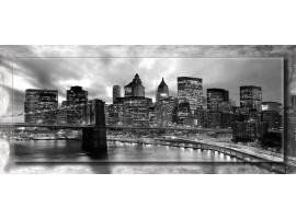 Manhattan con cornice | Quadro moderno su tela