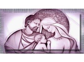 Holy Family Violet | con cornice