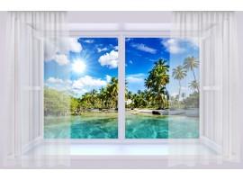 quadro effetto finestra sui tropici