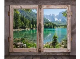 quadro effetto finestra country lake