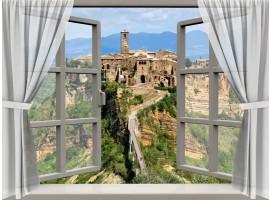 quadro effetto finestra su borgo antico