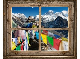 quadro effetto finestra sull'himalaya