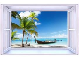quadro effetto finestra sulla barca