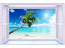 quadro effetto finestra sulla spiaggia