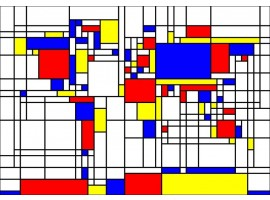 quadro mondrian world map