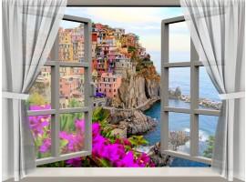 quadro effetto finestra sulle cinque terre