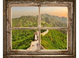 quadro effetto finestra sulla muraglia