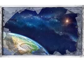 quadro effetto finestra rotta sull'universo