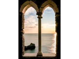 quadro effetto archi sul tramonto