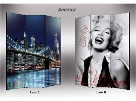 America | Separè paravento divisorio bifacciale