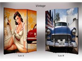 Vintage | Separè paravento divisorio bifacciale