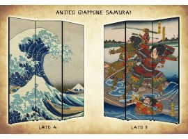 paravento separè giapponese samurai