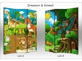paravento dinosauri e animali