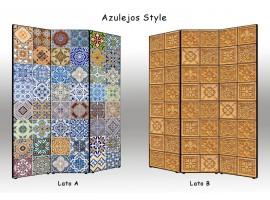 paravento separè bifacciale azulejos style