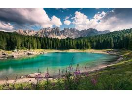 fotomurale Lago sulle Dolomiti