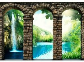fotomurale archi sulla cascata