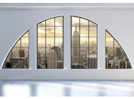 fotomurale finestra su new york