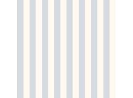 Carta da parati a righe azzurro e bianco crema