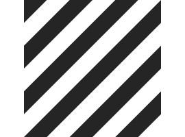 Carta da parati a righe nero e bianche oblique