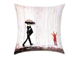 cuscino Pioggia Colorata Bansky