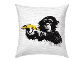 cuscino Scimmia Bansky