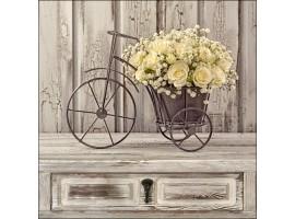 Yellow Roses | Quadro Shabby Chic quadrato