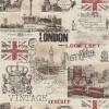 Carta da parati London Vintage
