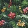 Carta da parati foresta orchidee rosse