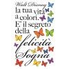 Frase adesiva Felicità - Walt Disney