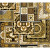 Carta da parati Versace patchwork nero oro
