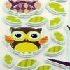 adesivo gufetti colorati
