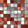 paraschizzi adesivo Mosaico rosso