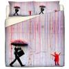 copripiumino Pioggia Colorata Bansky's Style