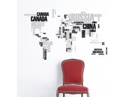 Adesivo murale World Map