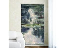 Ninfee di Monet | Adesivo murale (ambientazione)