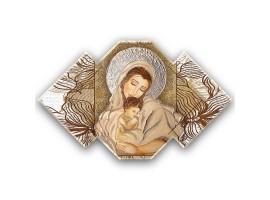 Quadro sacro Maternità - Maternity Flower Brown