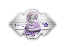 Quadro sacro Maternità - Maternity Marble Violet