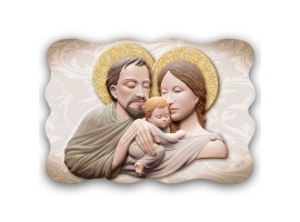 Quadro Sacro - Sacred Family Marble Brown