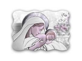 quadro sacro Maternity Ceramic Violet